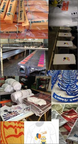 servicio estampado serigrafia, bolsas fliselina. fabricacion