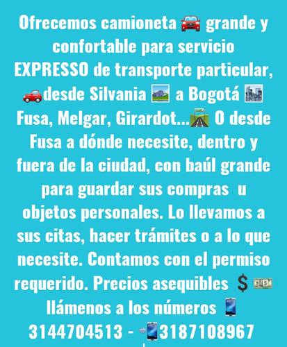 servicio expresso , transporte particular camioneta