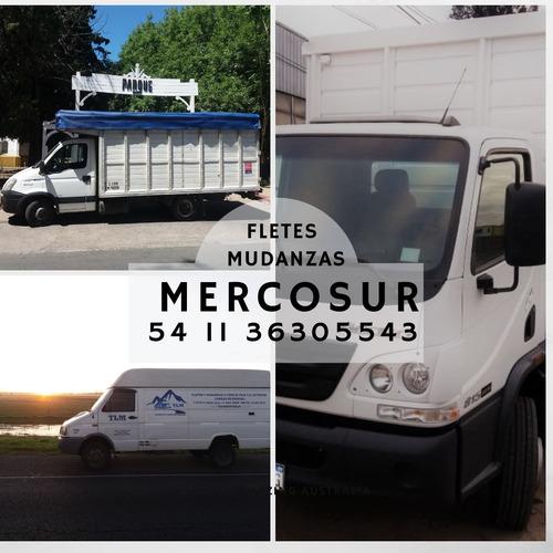 servicio fletes y mudanzas con rastreo satelital camiones