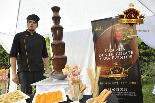 servicio fuente cascada de chocolate chica mediana y grande