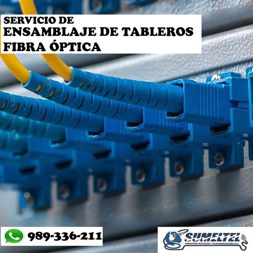 servicio: fusión por empalme, certificación de fibra óptica