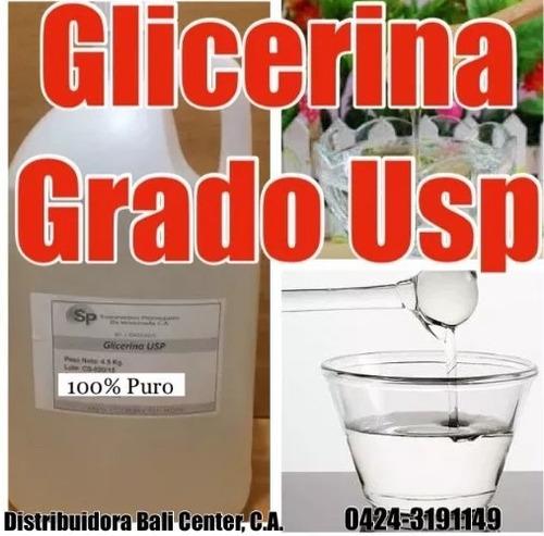 servicio galon 5kg grado alimento comestible glicerin usp
