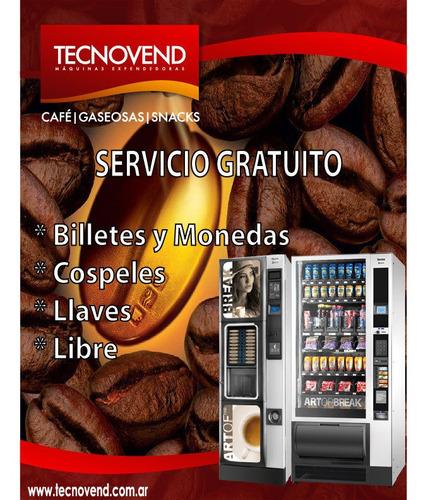 servicio gratuito: maquinas expendedoras cafe - snack - coca