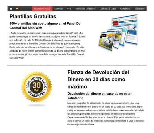 servicio hosting y dominios premiuns pruebe durante 30' dias