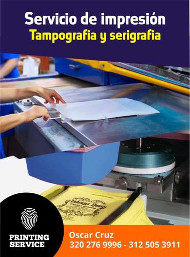 servicio impresión serigrafía y tampografia