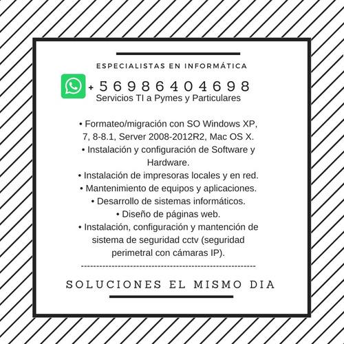 servicio informático, formateo, configuración remota,