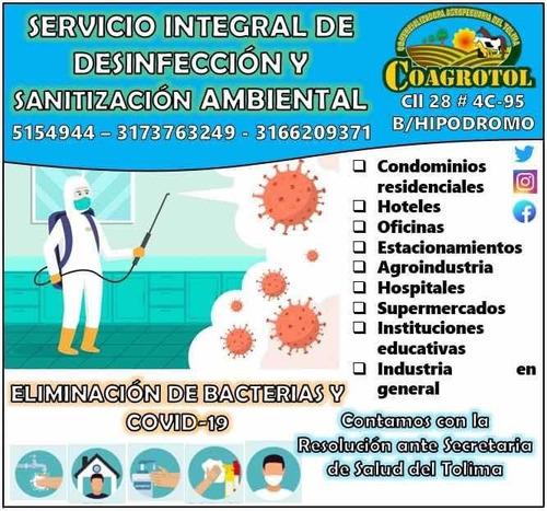 servicio integral de desinfección sanitization ambiental