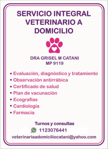 servicio integral veterinario a domicilio