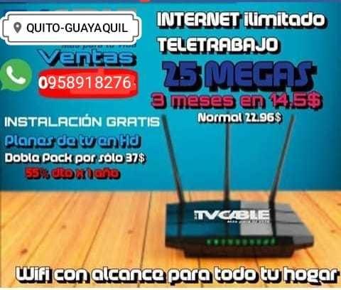 servicio internet para teletrabajo
