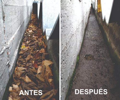 servicio limpieza de canalones/techos/desagues/obstrucciones