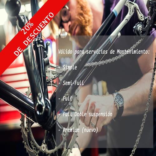 servicio mantenimiento full de bicicleta