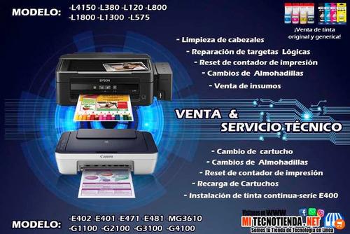 servicio mantenimiento y reparación de impresoras garantizad