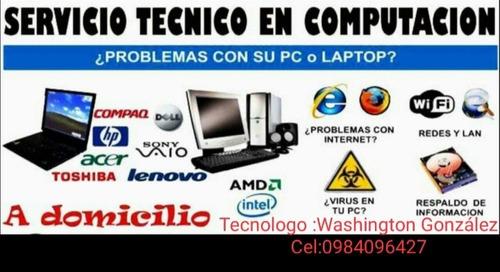 servicio mantenimiento y reparación de laptops