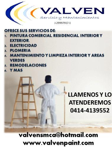servicio pintura interna, externa, limpieza, desmelezado,