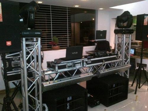 servicio profesional de dj, sonido e iluminacion,pantalla.