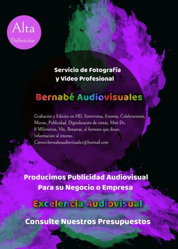 servicio profesional de video y fotografía