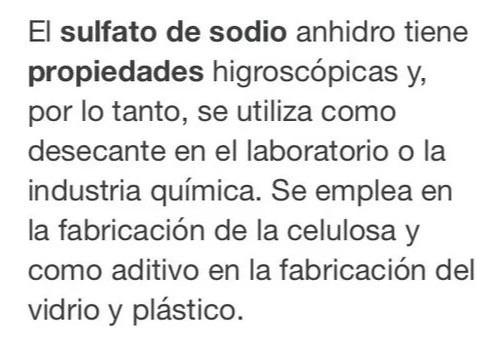 servicio reactivos laboratorio detergente sulfato de sodio