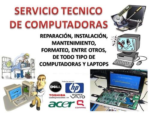 servicio reparación computadoras pc solo sistemas