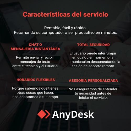servicio soporte tecnico remoto computadoras, portatiles, pc