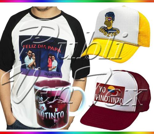 servicio sublimación sublimar franelas gorras personalizados