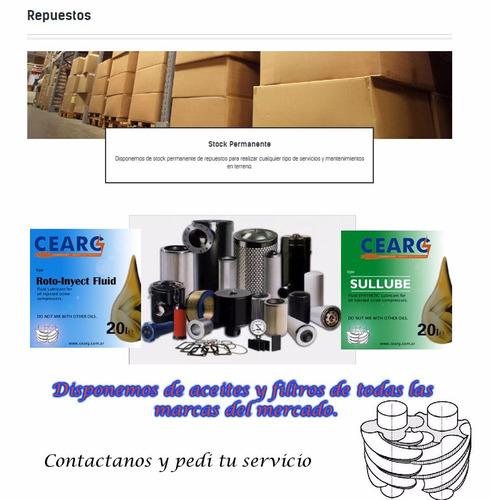 servicio tecnico a compresores a tornillos y g. electrogenos