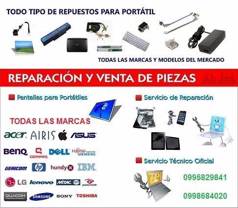 servicio técnico a computadoras laptops hp dell  repuestos