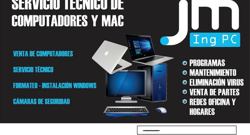 servicio tecnico a domicilio de computadoras y camaras segur
