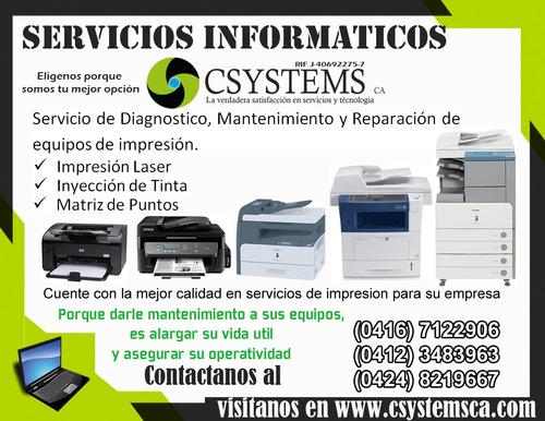 servicio técnico a domicilio de impresoras y fotocopiadoras