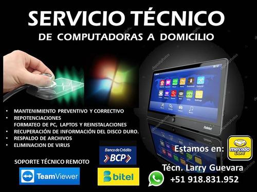 servicio técnico a domicilio para computadoras