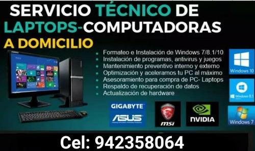 servicio técnico a domicilio para computadoras y laptops