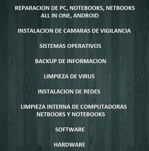 servicio técnico a domicilio pc notebooks redes. honestidad