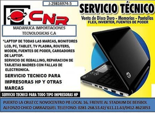 servicio técnico a laptop,cpu,monitores,ups,power house ,tv,