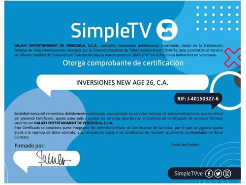 servicio técnico antenas simple, movistar tv, inter y drtv