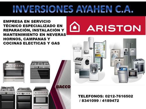 servicio técnico ariston y bacco neveras,lavadoras,cocinas