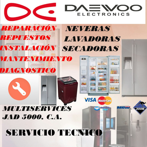 servicio tecnico autorizado daewoo nevera repuestosoriginals