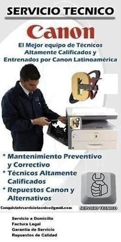 servicio técnico autorizado fotocopiadoras canon a domicilio
