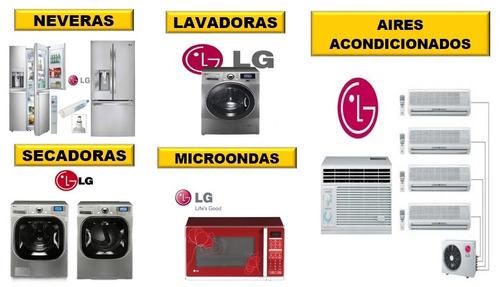 servicio técnico autorizado lg lavadoras secadoras neveras