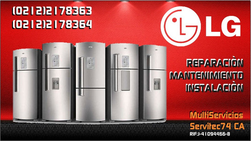 servicio tecnico autorizado lg nevera lavadora