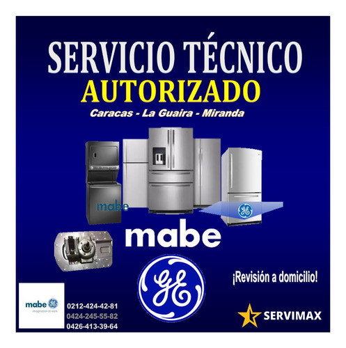 servicio técnico autorizado mabe neveras secadoras