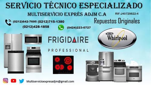 servicio tecnico autorizado  whirlpool frigidaire nevera