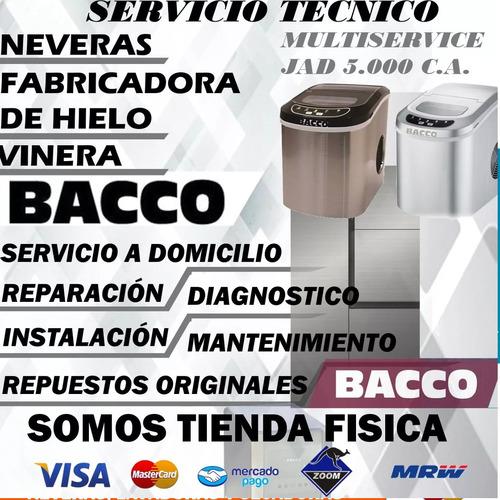 servicio tecnico bacco nevera ice maker viñera
