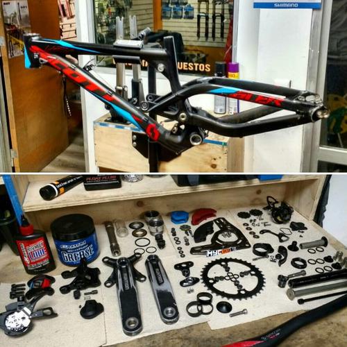servicio técnico bicicletas mantenciónes, suspensiones etc.