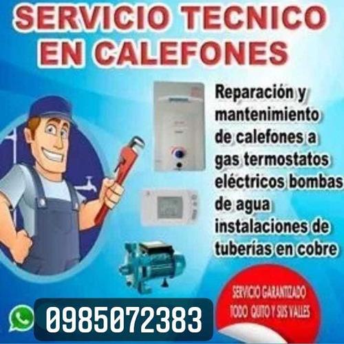 servicio tecnico calefones termostatos bombas de agua cobre
