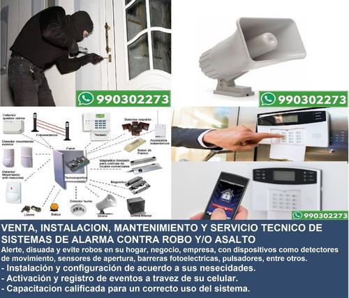 servicio técnico cámaras de seguridad cctv, alarma incendio
