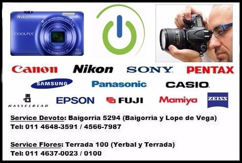 servicio técnico cámaras digitales reflex filmadoras tablet