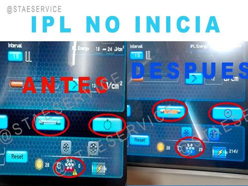 servicio técnico carboxiterapia cavitación rf ipl e-light.
