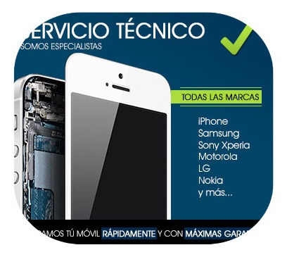servicio técnico celulares iphone/samsung/motorola/xiaomi...