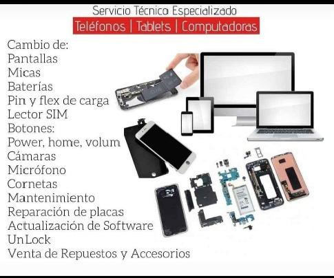 servicio tecnico celulares y tablet liberaciones