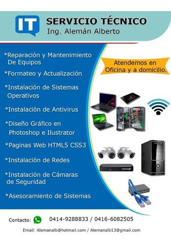 servicio técnico computadora, domicilio diseño web