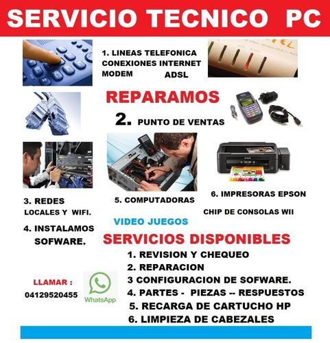 servicio técnico computadora formateo pc laptop